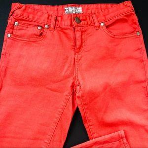 Free People Orange Jeans